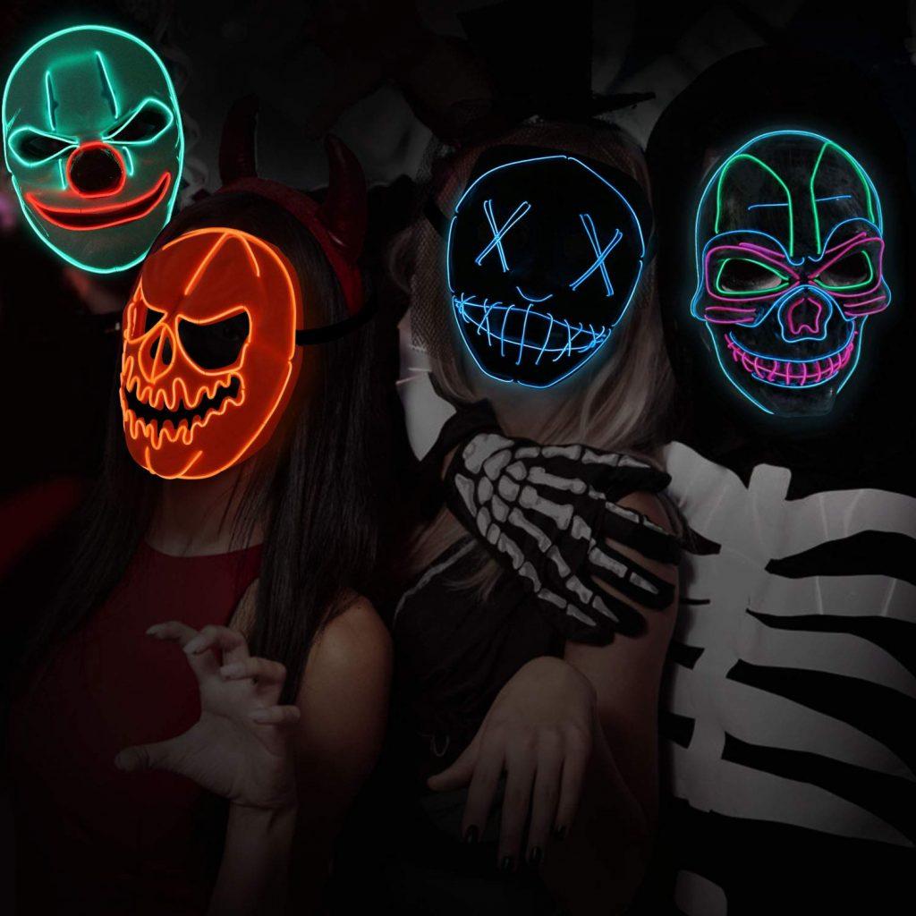 maschere di halloween led 2019 la notte del giudizio