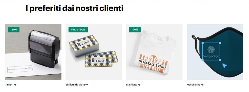 Vistaprint prodotti