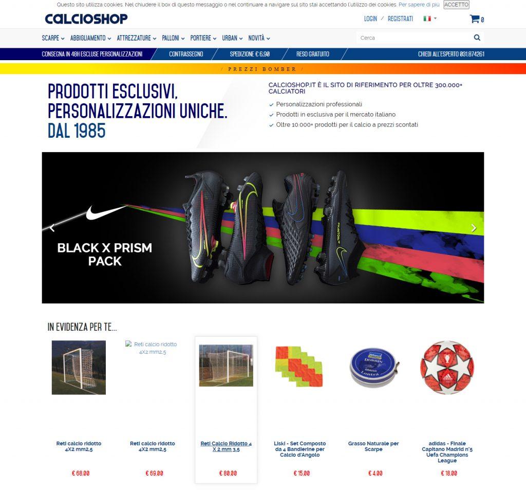 CalcioShop e-commerce