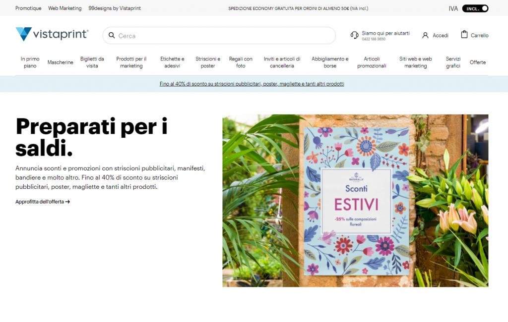 vistaprint homepage