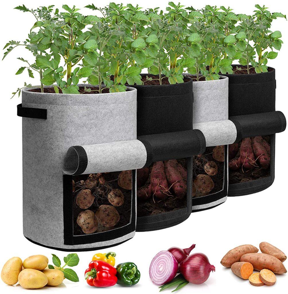 sacchetti per coltivare in casa patate, carote ed altri ortaggi